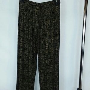 Coldwater Creek pants black and gold